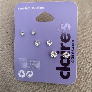 Claire's cubic zirconia studded earrings